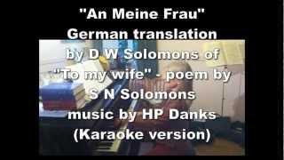 An meine Frau - based on Silver threads karaoke version