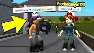 POOR BACON GIRL EXPERIMENT FOR $100,000! (Roblox Bloxburg)