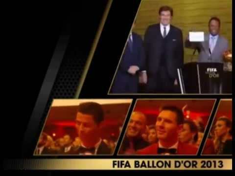 Cristiano Ronaldo Win Fifa Ballon d'Oro 2013