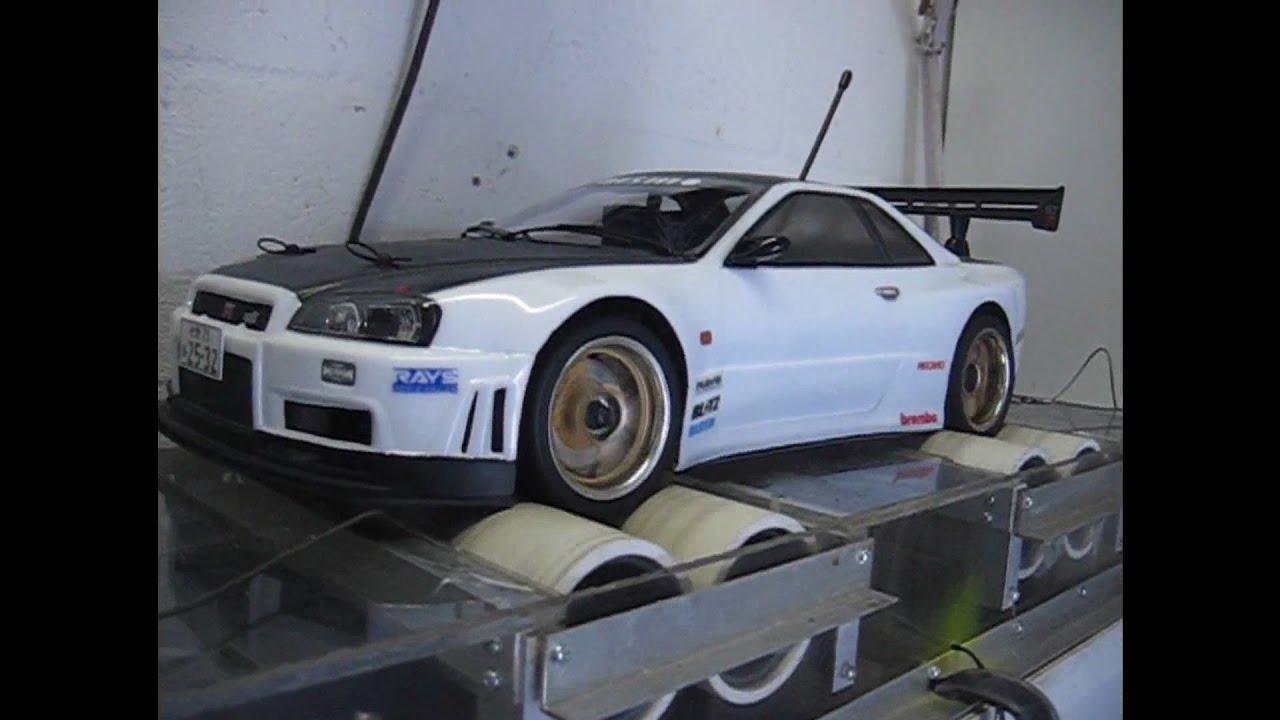 Nissan Skyline Gtr For Sale >> RC HPI Skyline R34 GTR Dyno - YouTube