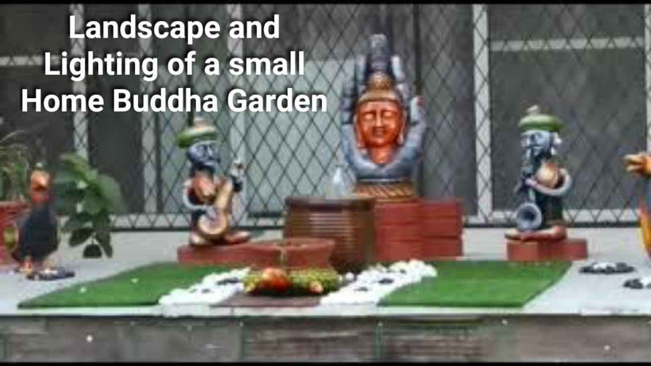 Diy Landscape Gardens I Buddha Garden I Diwali Decoration I Diwali Lighting Ideas I Garden Lighting Youtube