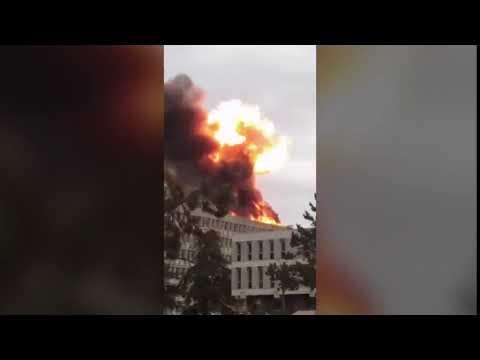 Взрыв в университете Лиона!