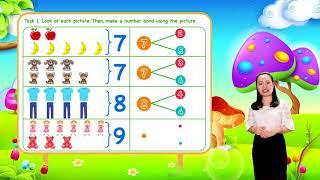 Math For Kids - Lesson 8. Number Bonds for kids   1st Grade
