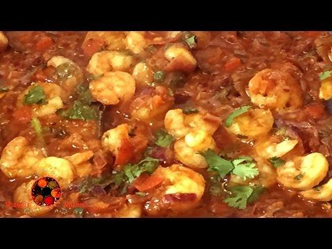 Tawa Kolambi Masala Recipe in Marathi | Spicy Prawns Masala | Maharashtrian Style Kolambi Masala