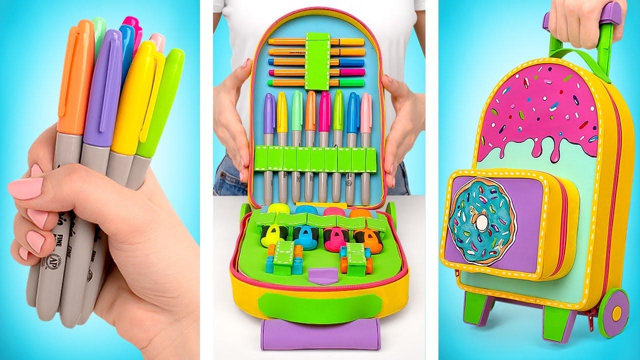 DIY Impresionante maletín de viaje para artículos de papelería