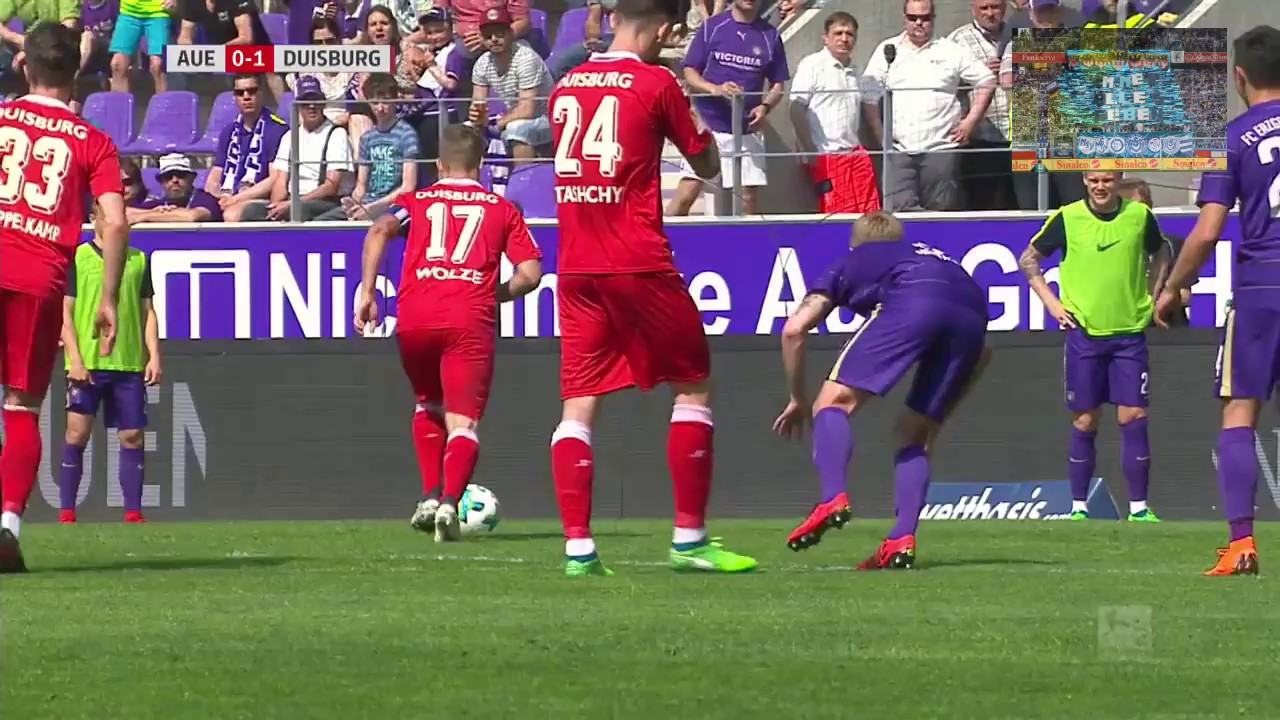 Fc Erzgebirge Aue Vs Msv Duisburg 2bundesliga 31spieltag 2017