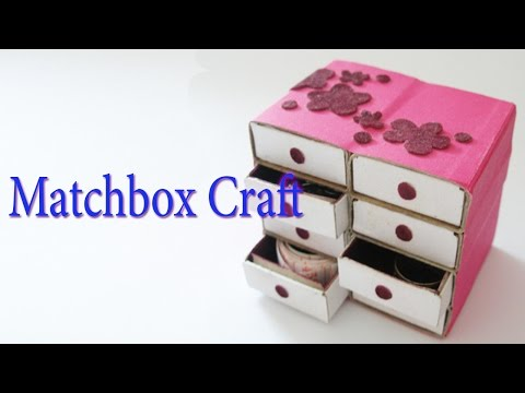 Hand Made Matchbox Craft   Best From Waste Material   Hand Creativity Art   Easy Step to Follow