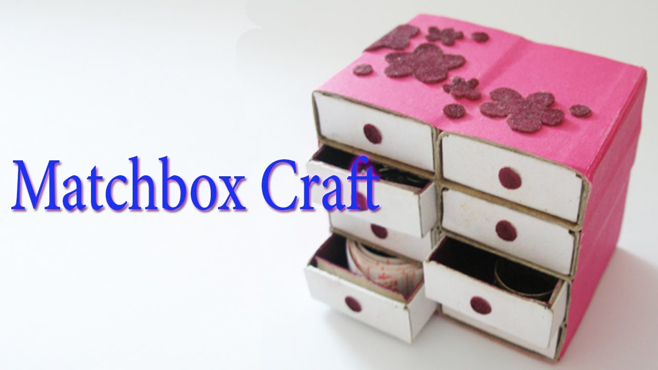 Hand made matchbox craft best from waste material hand for Handicrafts from waste