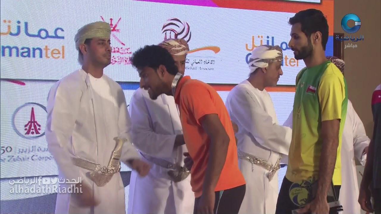 مراسم تكريم نادي السيب الحاصل على المركز الثالث في بطولة درع وزارة الشؤون الرياضية للكرة الطائرة