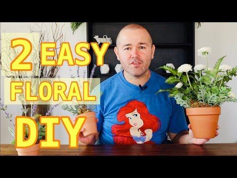 2 Easy DIY Spring Floral Arrangements / Decorating For Spring On A Dollar Tree Budget