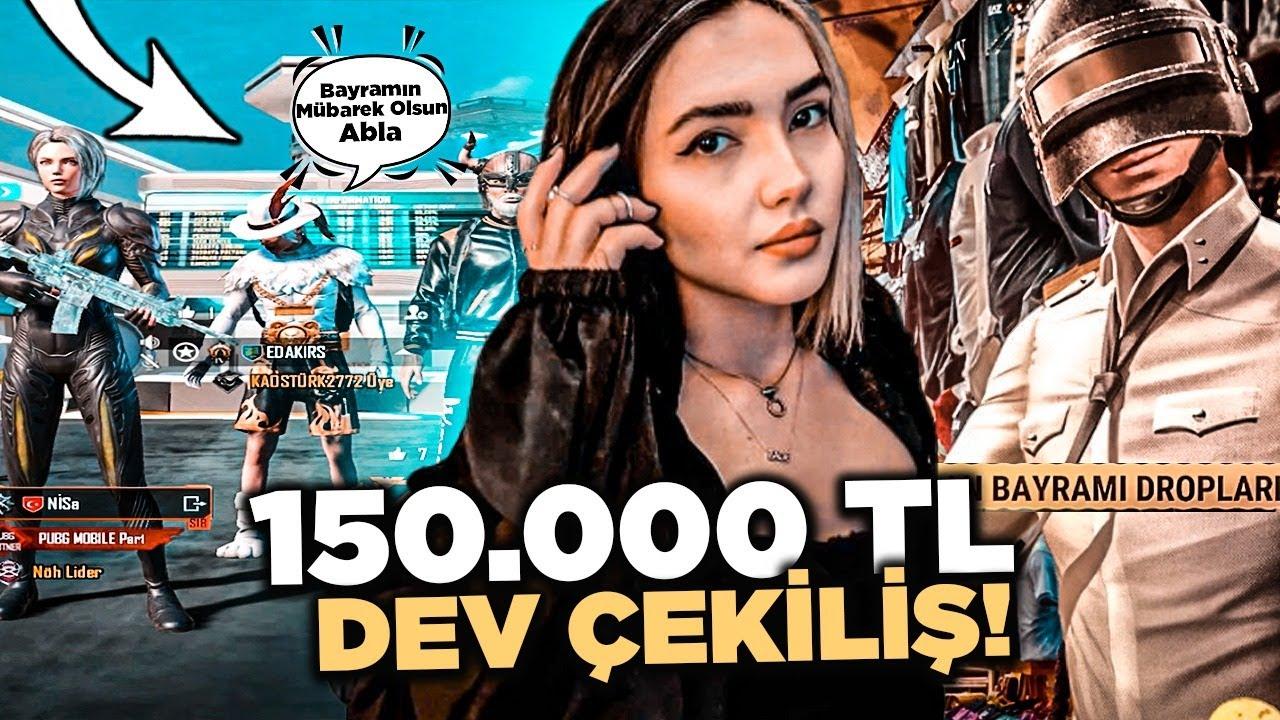 150.000 TL DEV ÇEKİLİŞ !! TAKİPÇİLERİME BAYRAM HEDİYESİ DAĞITTIM - PUBG Mobile