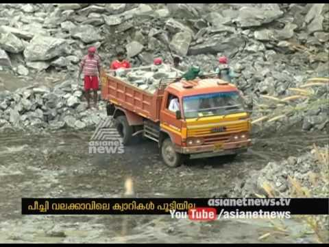 Protest fumes against the quarry functioning at Peechi
