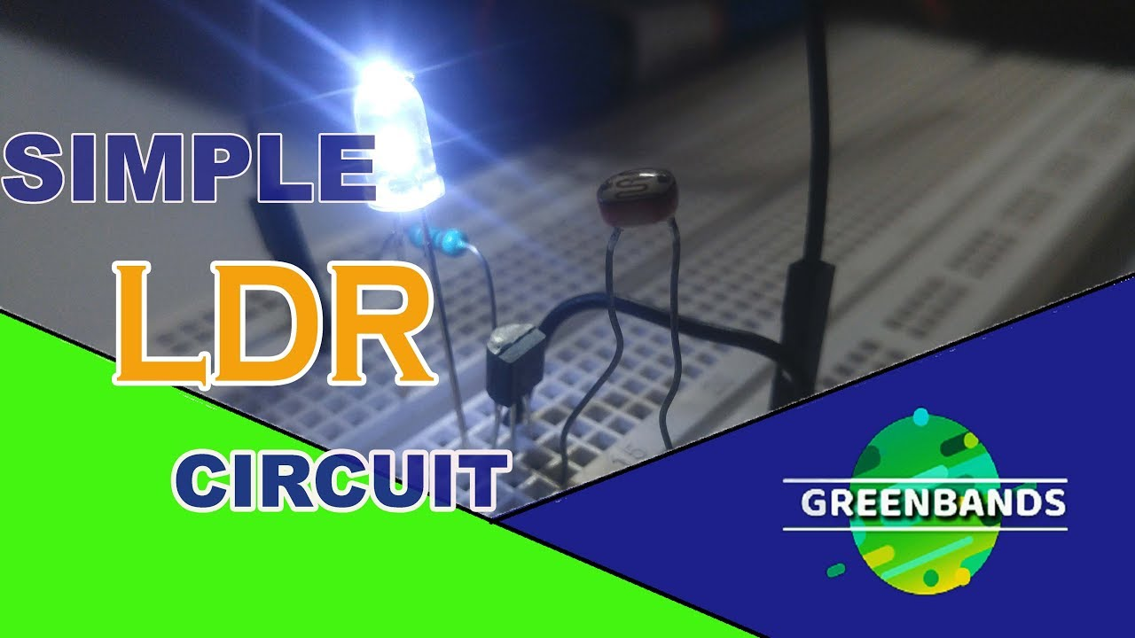 hight resolution of how to make simplest ldr circuit with only one transistor