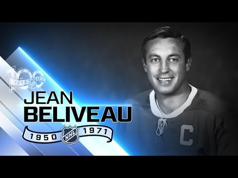 Jean Beliveau's name is on Stanley Cup 17 times