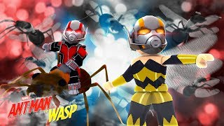 ROBLOX -2 PLAYER SUPERHERO TYCOON - ANT-MAN - WASP!