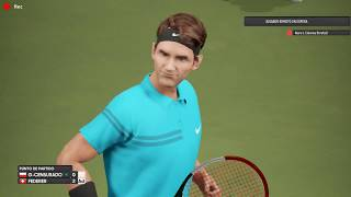 ROGER FEDERER VS NERO L CIEMNA AO INTERNATIONAL TENNIS ONLINE