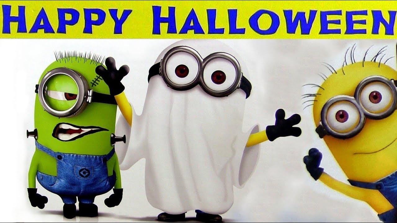 Halloween despicable me plush vampire toys agnes youtube - Funny happy halloween wallpaper ...