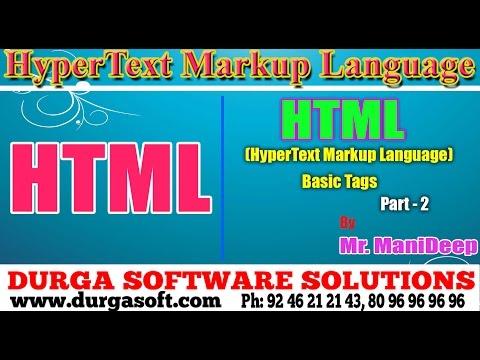 HTML||HTML Basic Tags Part-2 By Manideep