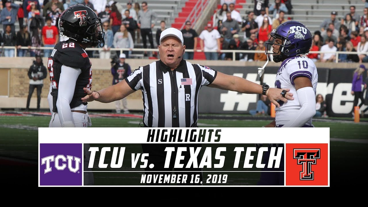 Tcu Vs Texas Tech Football Highlights 2019 Stadium Youtube