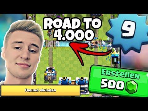 LEVEL 9: Road to 4000! Freundesliste füllen + 500 GEMs Turnier! Clash Royale deutsch