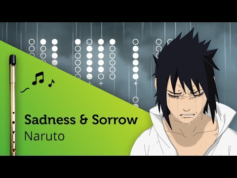 Sadness and Sorrow (Naruto) on Tin Whistle D + tabs tutorial