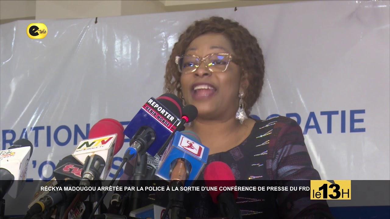 RECKYA MADOUGOU ARRETEE PAR LA POLICE A LA SORTIE D'UNE CONFERENCE DE PRESSE DU FRD #INFOSDUBEN