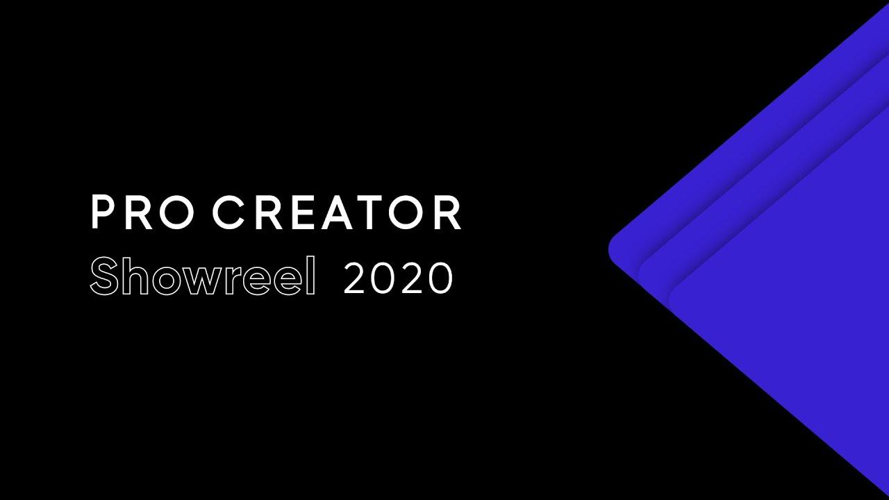 ProCreator   Showreel 2020