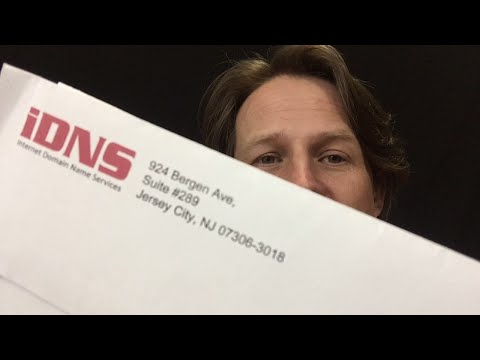 IDNS Domain Name Expiration / Registration letter came in the mail... again... (scam)