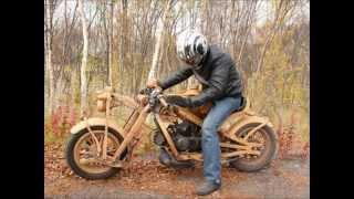 деревянный мотоцикл Дмитрия Губенко