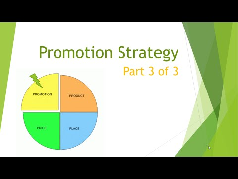 Marketing Mix: Promotion Strategy 3 of 3