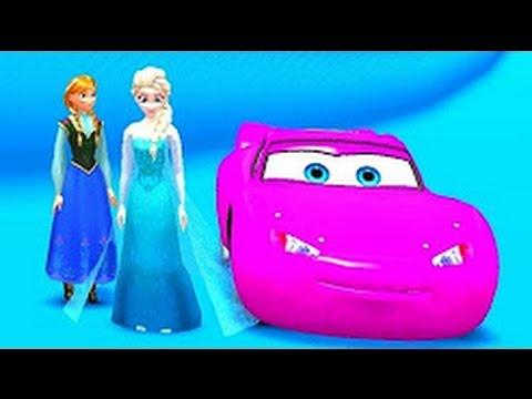 Children's program: Princess Elsa, Ana Supercar Driving Practice Colors, Music For Children