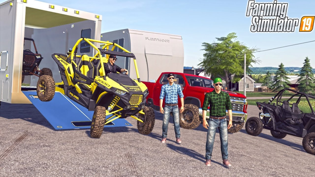 MULTIPLAYER CAMPING WITH BIG TOY HAULERS! (WITH 5 PEOPLE) | FARMING  SIMULATOR 2019
