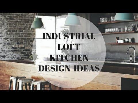 Industrial Loft kitchen design ideas. Exclusive modern furniture