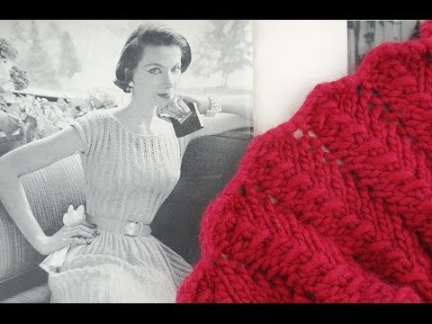 LACE SCARF KNITTING TUTORIAL - Vintage Lace Scarf Revisited, Beginners Edit