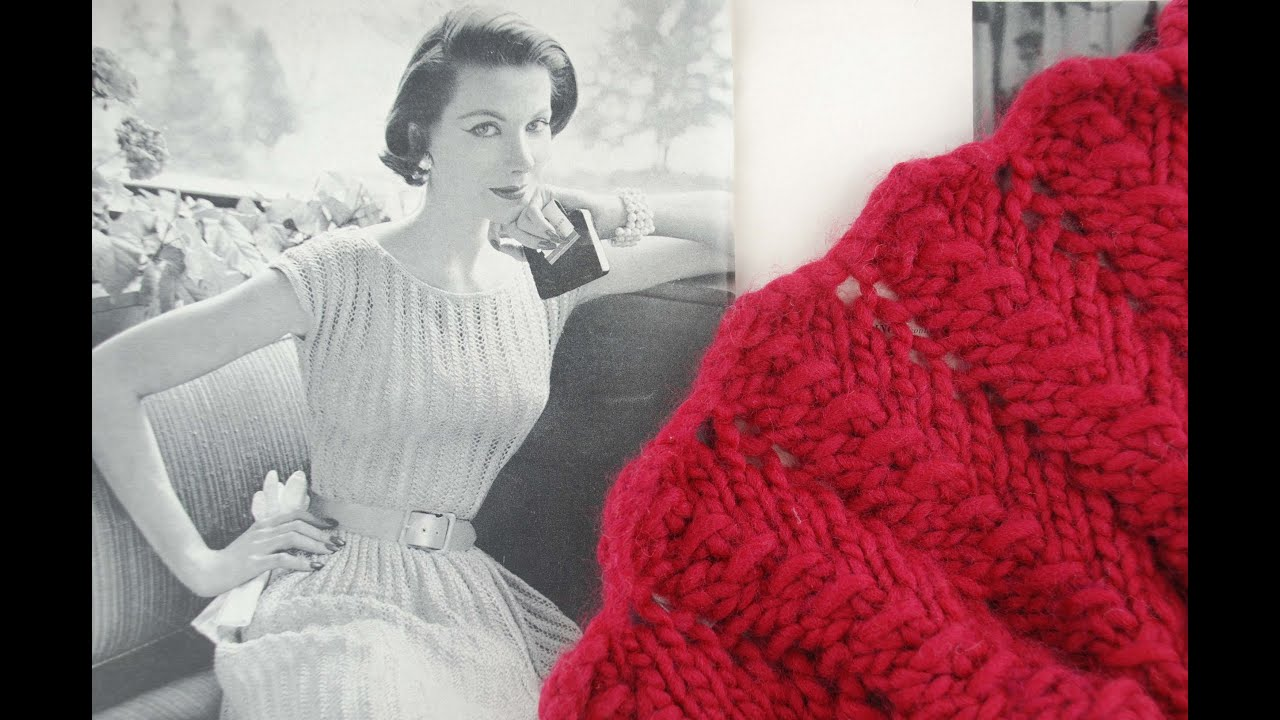 Beginner Lace Scarf Knitting Pattern : LACE SCARF KNITTING TUTORIAL - Vintage Lace Scarf Revisited, Beginners Edit -...