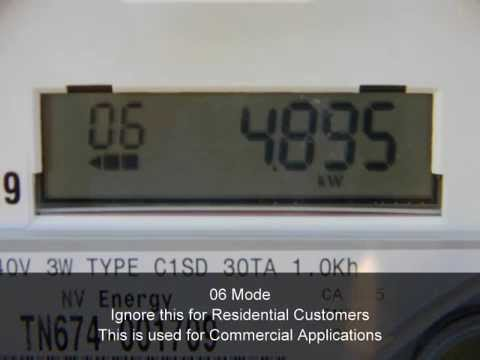 Reading A Two Way Digital Electric Meter Youtube