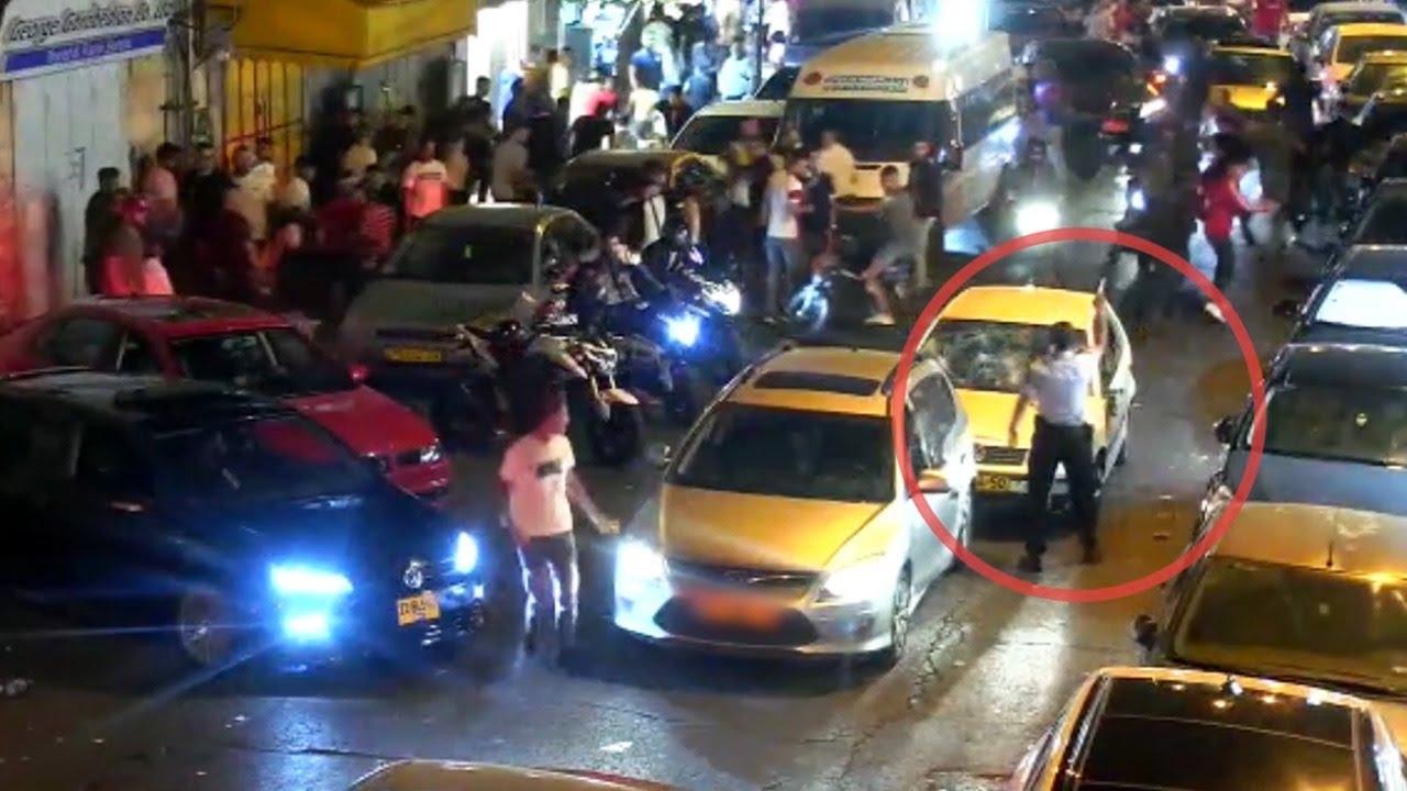 צפו: שלושה תוקפים מוסלמים ביצעו לינץ בנהג יהודי, בזמן פקק תנועה בירושלים