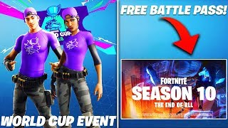 *FREE* SEASON 10 BATTLE PASS, WORLD CUP EVENT, SHADOW RISING BUNDLE & MORE! (Fortnite Battle Royale)