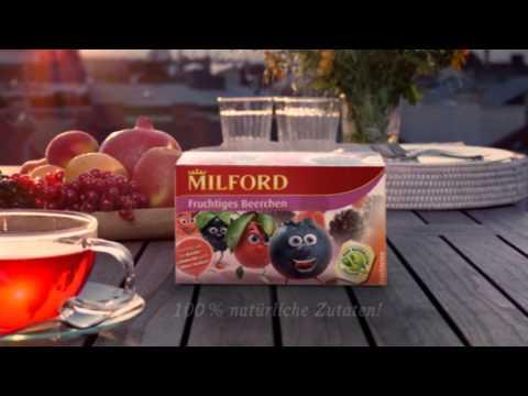 Milford Werbung TV-Spot Kindertee Fruchtiges Beerchen