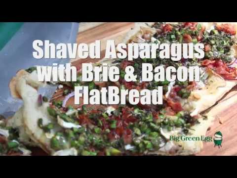 Shaved Asparagus with Brie and Bacon FlatBread
