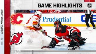 Flames @ Devils 10/26/21 | NHL Highlights