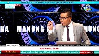 STATE OF EMERGENCY IN MU On Manung Hutna 24 September 2018