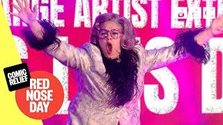 Miss Lois Duval performs Magic Goes Wrong - Comic Relief 2019