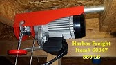 Harbor Freight Electric Hoist - Compressor lift - YouTube on