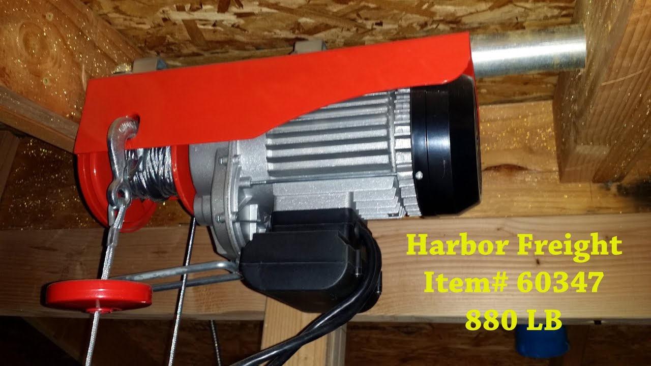 Harbor Freight 60347 880 Lb Winch Youtube