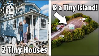 They Bought An Island For Their 2 Tiny Houses! 🏝🏘