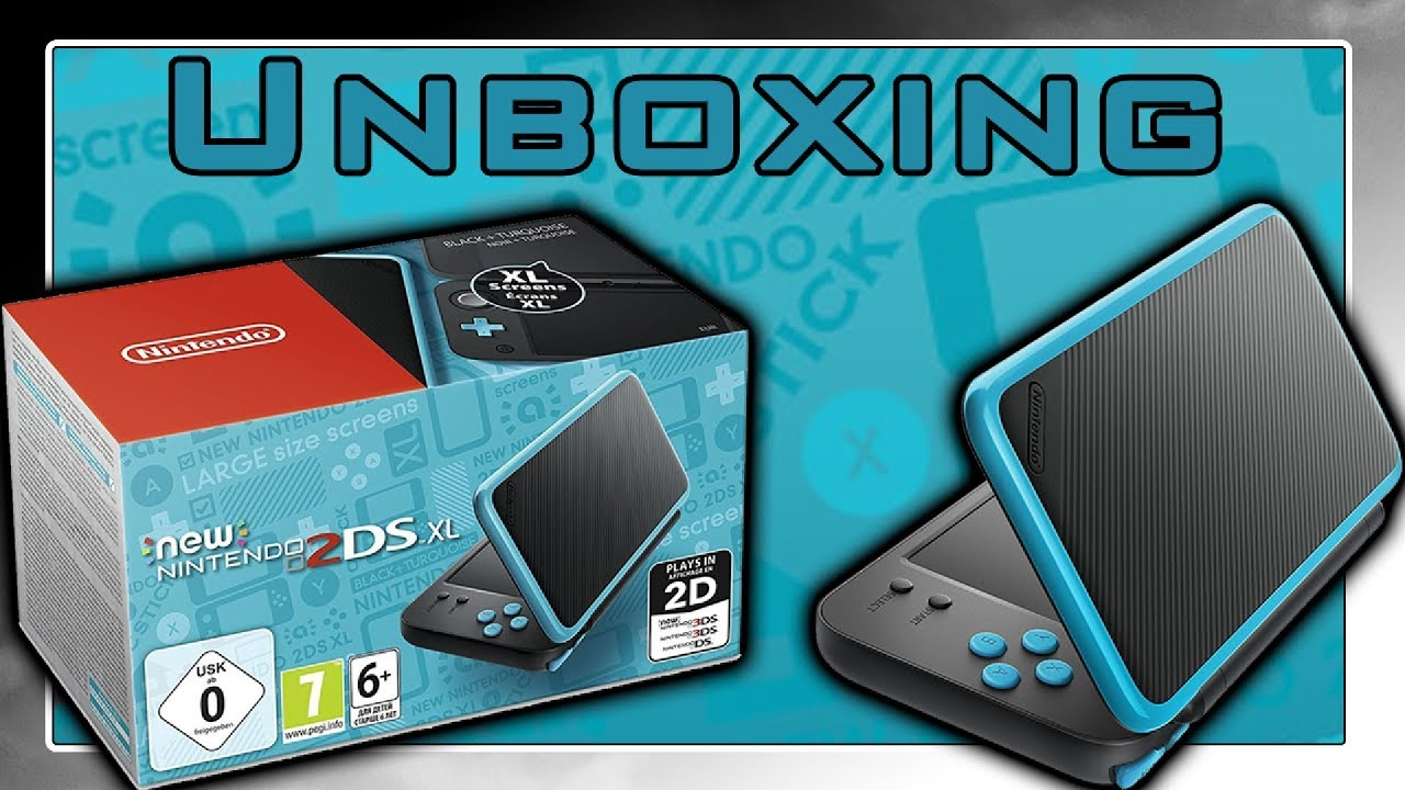 new nintendo 2ds xl schwarz t rkis unboxing in 4k youtube. Black Bedroom Furniture Sets. Home Design Ideas