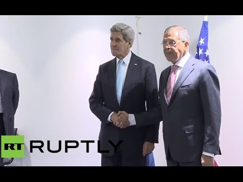 Switzerland: Lavrov and Kerry come face-to-face to talk Ukraine
