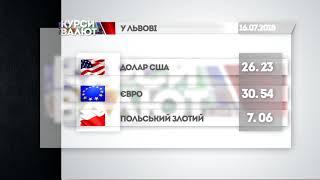 Курси валют та прогноз погоди на 17 липня