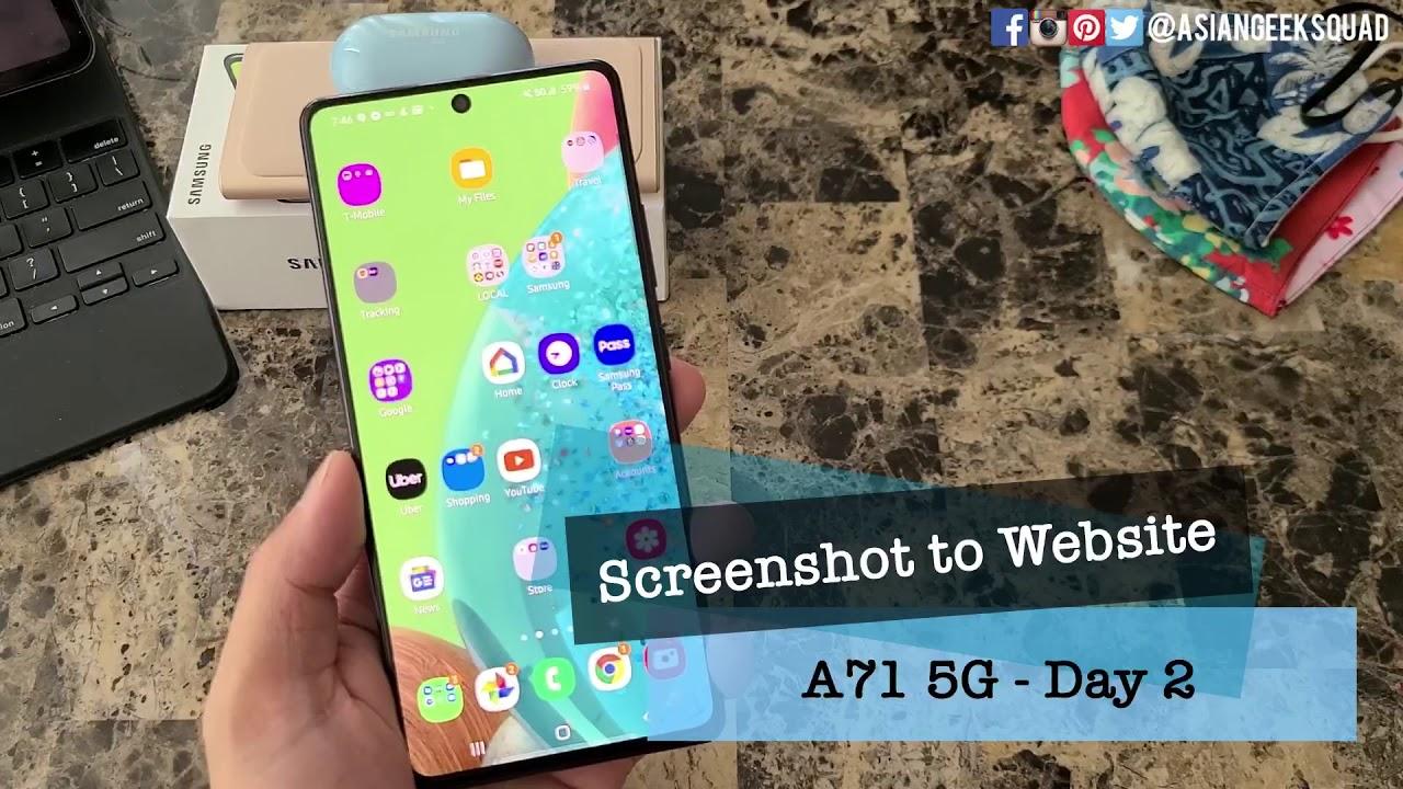 Day 2 - Samsung Galaxy A71 5G -